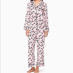 Kate Spade Pink and Black Makeup Pajamas